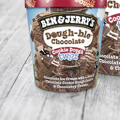 Ben & Jerry's Dough-ble Chocolate Cookie Dough Twist