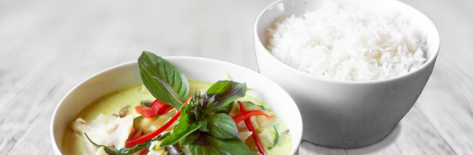 Wok Grünes Curry (Gäng Kiew Wan)