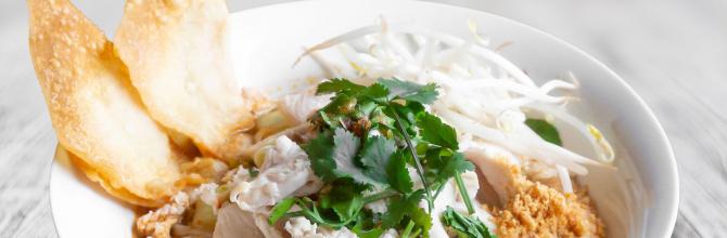 Nudelsuppe Tom Yam (Ghu Diew Tom Yam)