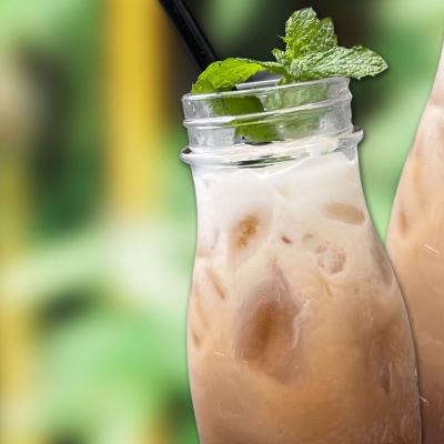 Homemade Thai Eistee Black Vanilla Creamy Milk