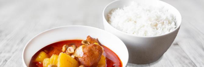 Wok Kokosmlich gelbes Curry (Massamam)